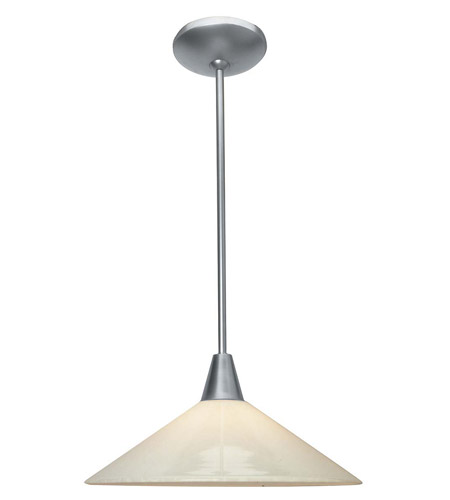 Access Lighting Shaney Manhattan 1 Light Hat Glass Pendant in Satin 28415-SAT/OPL photo