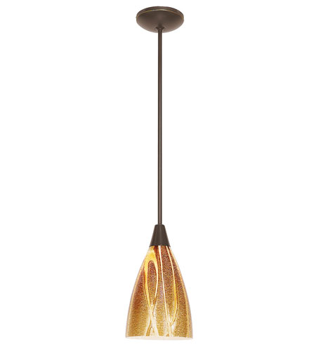 Access Lighting Shaney Safari 1 Light Italian Art Glass Pendant in Satin 28425-SAT/LAV photo