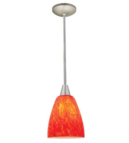 Access Lighting Shaney Fire 1 Light Glass Pendant in Satin 28444-SAT/BDY photo