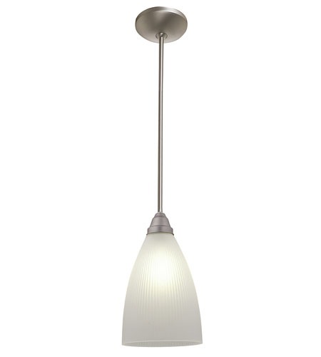 Access Lighting Flora Tsuki 1 Light Ribbed Glass Pendant in Oil Rubbed Bronze 28506-ORB/RFR photo