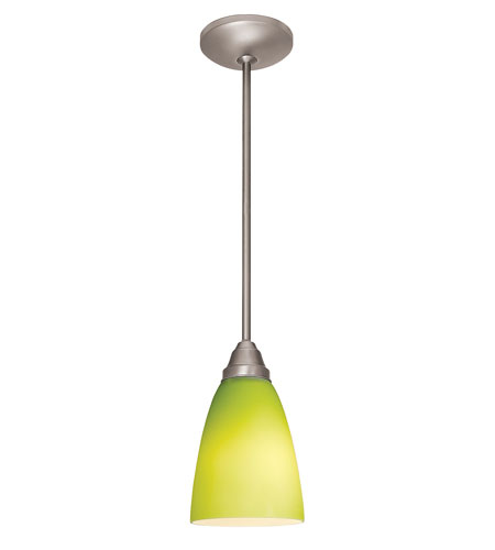 Access Lighting Flora Inari Silk 1 Light Cone Glass Pendant in Oil Rubbed Bronze 28522-ORB/LGR photo