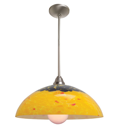 Access Lighting Flora Fire 1 Light Glass Bowl Pendant in Oil Rubbed Bronze 28565-ORB/RED photo