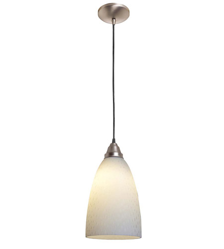Access Lighting Rita Rain 1 Light Italian Glass Pendant in Brushed Steel 28603-BS/WRD photo