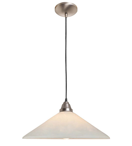 Access Lighting Rita Manhattan 1 Light Hat Glass Pendant in Brushed Steel 28615-BS/OPL photo