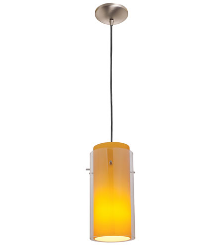 Access Lighting Rita GnG 1 Light Glass in Glass Cylinder Pendant in Oil Rubbed Bronze 28633-ORB/CLAM photo
