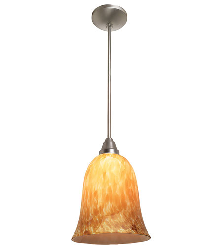 Access Lighting Laura Manhattan 1 Light Bell Glass Pendant in Rust 28714-RU/TRA photo
