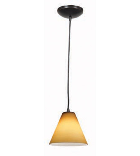 Access Lighting Tali Inari Silk 1 Light Maxi Pendant in Oil Rubbed Bronze 28804-ORB/AMB photo