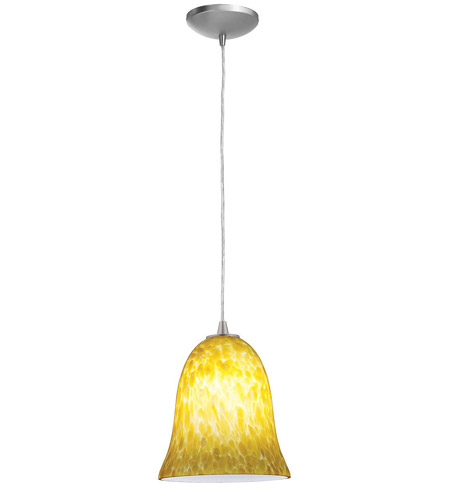 Access Lighting Tali Manhattan 1 Light Bell Glass Pendant in Brushed Steel 28814-BS/COG photo