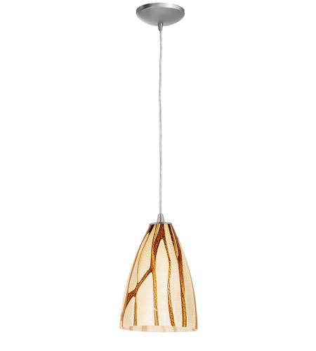Access Lighting Tali Safari 1 Light Maxi Pendant in Brushed Steel 28825-BS/LAV photo
