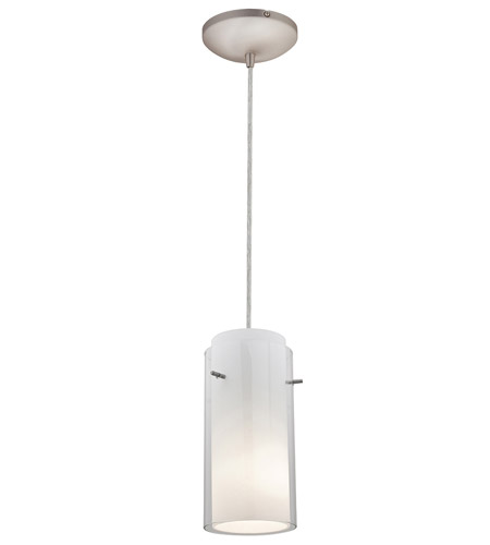 Access Lighting Tali Glass in Glass 1 Light Maxi Pendant in Brushed Steel 28833-BS/CLOP photo