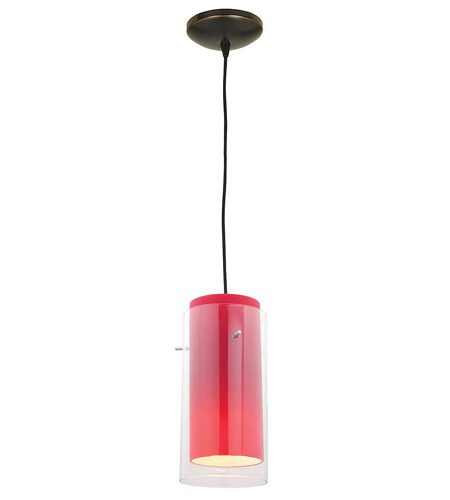 Access Lighting Tali Glass in Glass 1 Light Maxi Pendant in Oil Rubbed Bronze 28833-ORB/CLRD photo