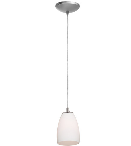 Access Lighting Tali Inari Silk 1 Light Maxi Pendant in Brushed Steel 28869-BS/OPL photo