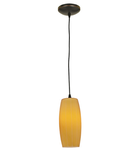 Access Lighting Tali Pearl 1 Light Maxi Pendant in Oil Rubbed Bronze 28870-ORB/AMB photo