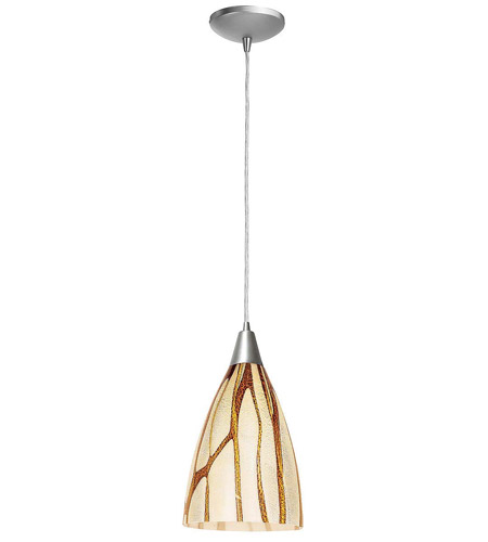 Access Lighting Heather Safari 1 Light Maxi Pendant in Brushed Steel 28925-BS/LAV photo