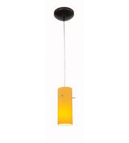 Access Lighting Heather Inari Silk 1 Light Maxi Pendant in Oil Rubbed Bronze 28930-ORB/AMB photo