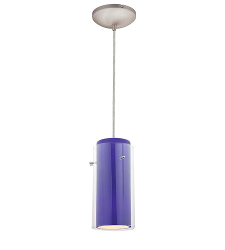 Access Lighting Heather Glass in Glass 1 Light Maxi Pendant in Brushed Steel 28933-BS/CLCB photo