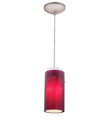 Access Lighting Heather Glass in Glass 1 Light Maxi Pendant in Brushed Steel 28933-BS/PLOP photo