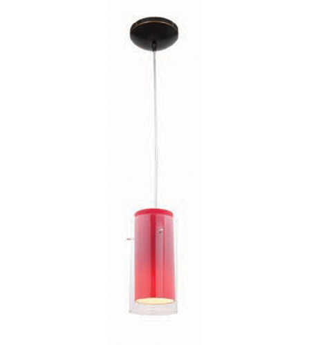 Access Lighting Heather Glass in Glass 1 Light Maxi Pendant in Oil Rubbed Bronze 28933-ORB/CLRD photo