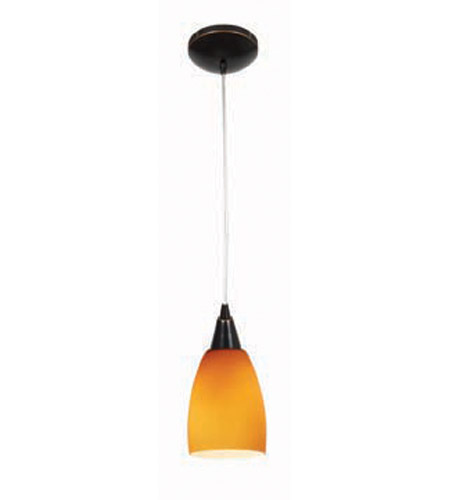 Access Lighting Heather Velvet 1 Light Maxi Pendant in Oil Rubbed Bronze 28969-ORB/AMB photo