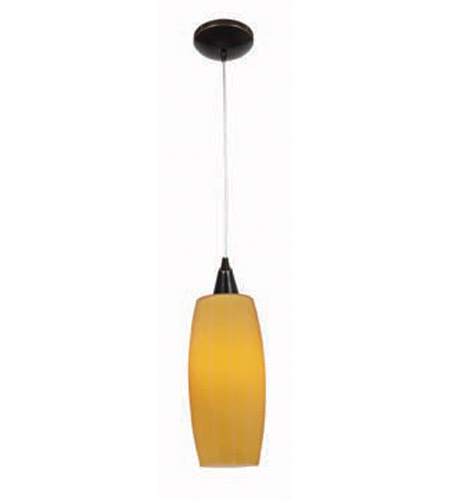 Access Lighting Heather Pearl 1 Light Maxi Pendant in Oil Rubbed Bronze 28970-ORB/AMB photo