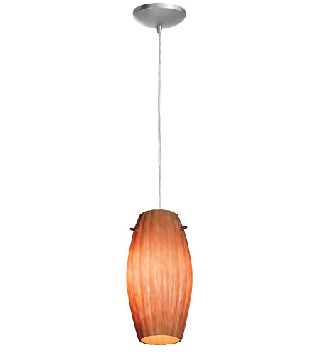 Access Lighting Heather Fleur 1 Light Maxi Pendant in Brushed Steel 28976-BS/AMM photo