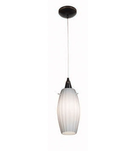 Access Lighting Heather Fleur 1 Light Maxi Pendant in Oil Rubbed Bronze 28976-ORB/OPL photo