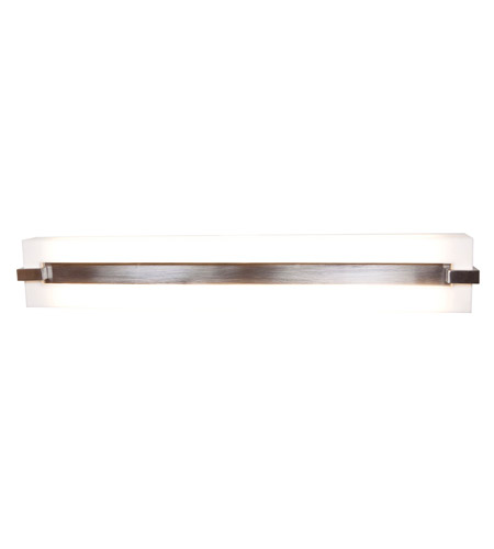 Access 31021-BS/ACR Sierra 2 Light 25 inch Brushed Steel Vanity Wall Light in  24.75 inch photo