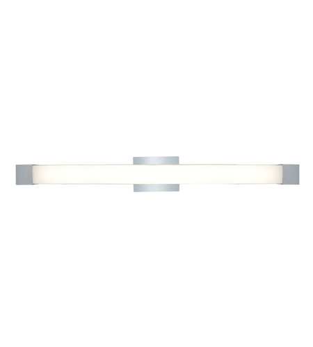 Access Lighting Alpine 1 Light Wall or Vanity Fixture in Brushed Steel with Acrylic Glass 31035-BS/ACR photo