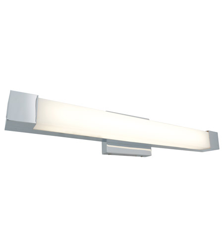 Access Lighting Alpine 1 Light Wall or Vanity Fixture in Brushed Steel with Acrylic Glass 31036-BS/ACR photo