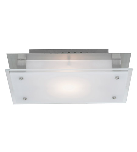 Access C50033BSFSTEH3118Q Vision 1 Light 7 inch Brushed Steel Flush Mount Ceiling Light photo