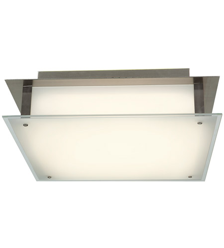 Access Lighting Vision 2 Light Flush Mount in Brushed Steel 50035-BS/FST photo