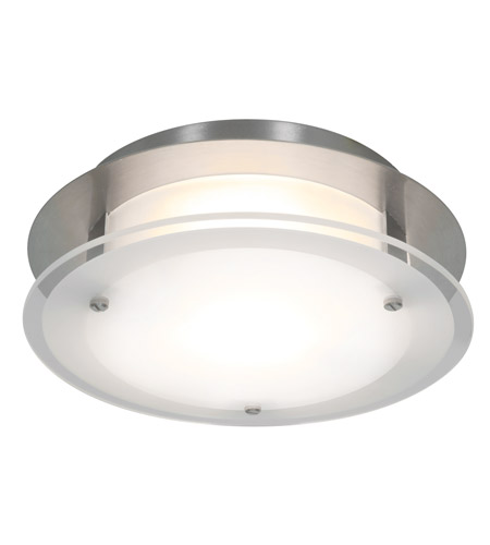 Access 50036-BS/FST VisionRound 1 Light 10 inch Brushed Steel Ceiling & Wall Ceiling Light in Incandescent photo