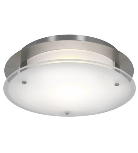 Access 50037-BS/FST VisionRound 1 Light 12 inch Brushed Steel Ceiling & Wall Ceiling Light in Incandescent photo