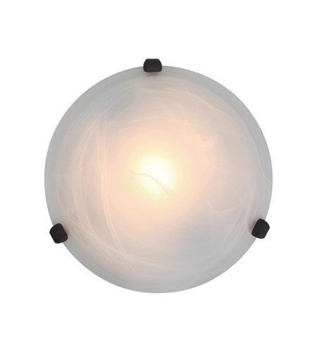 Access Lighting Nimbus 1 Light Flush Mount in Rust 50046-RU/ALB photo
