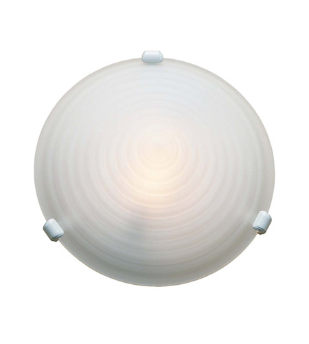 Access Lighting Nimbus 1 Light Flush Mount in White 50048-WH/SAF photo