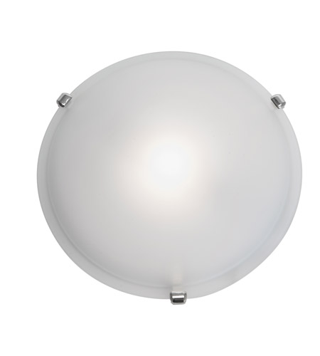 Access Lighting Nimbus 1 Light Flush Mount in Polished Brass 50049-PB/FST photo