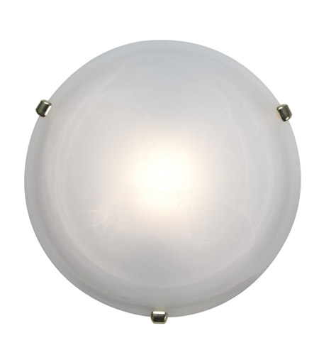 Access Lighting Nimbus 1 Light Flush Mount in Polished Brass 50050-PB/ALB photo