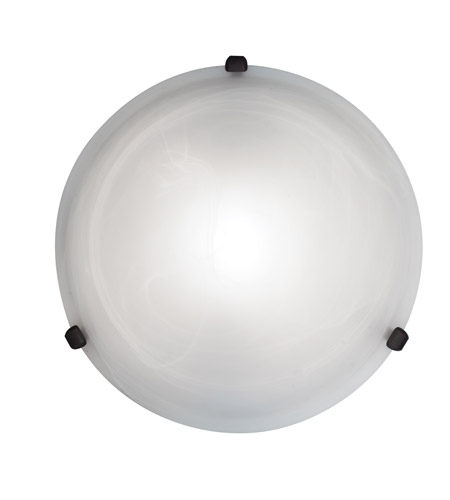 Access Lighting Nimbus 1 Light Flush Mount in Rust 50050-RU/ALB photo