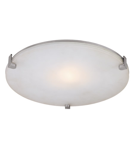 Access Lighting Lithium 1 Light Flush Mount in Brushed Steel 50057-BS/OPL photo