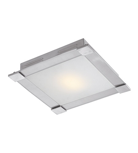 Access Lighting Carbon 1 Light Flush Mount in Brushed Steel 50058-BS/OPL photo
