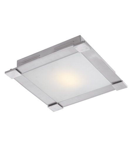 Access Lighting Carbon 1 Light Flush Mount in Brushed Steel 50059-BS/OPL photo