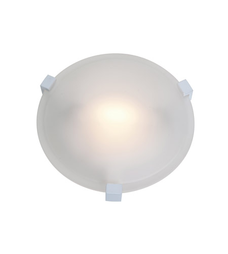Access Lighting Cirrus 1 Light Flush Mount in White 50060-WH/FST photo