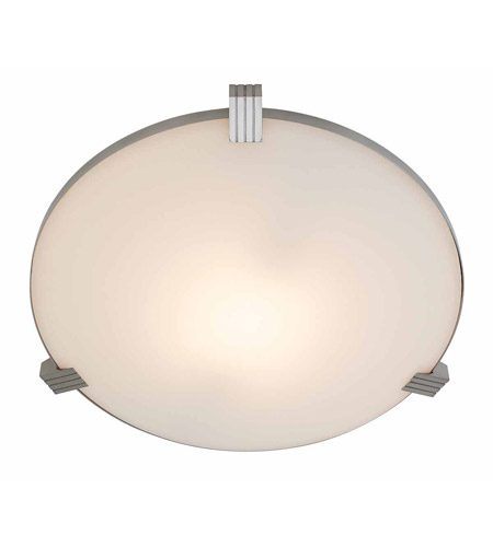 Access C50070BSWHTEN1213BS Luna 2 Light 17 inch Brushed Steel Flush Mount Ceiling Light photo