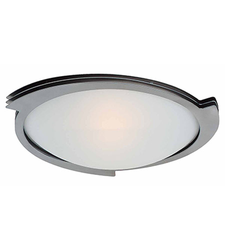 Access Lighting Triton 1 Light Flush Mount in Brushed Steel with Frosted Glass C50071BSFSTEN1113BS photo