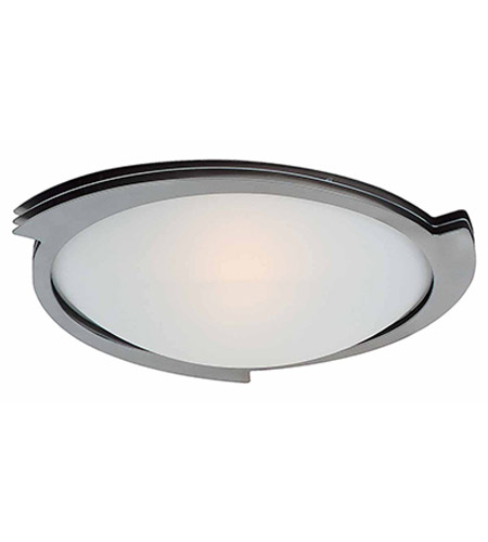Access Lighting Triton 1 Light Flush Mount in Brushed Steel 50072-BS/FST photo