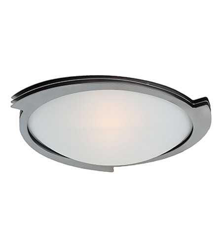 Access 50073-BS/FST Triton 1 Light 19 inch Brushed Steel Flush Mount Ceiling Light  photo