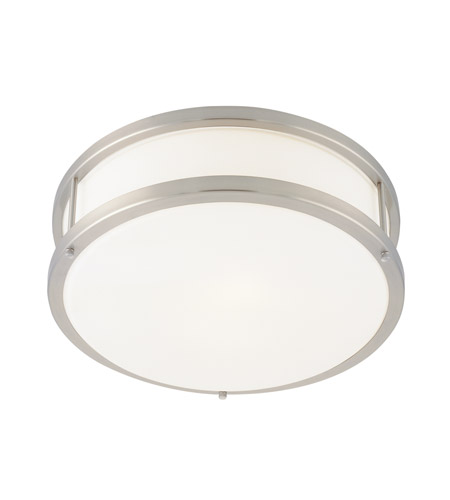 Access 50079LEDDLP-BS/OPL Conga LED 12 inch Brushed Steel Flush Mount Ceiling Light photo thumbnail