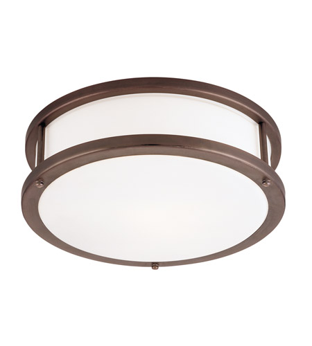 Access 50080-BRZ/OPL Conga 2 Light 16 inch Bronze Flush Mount Ceiling Light in Incandescent photo