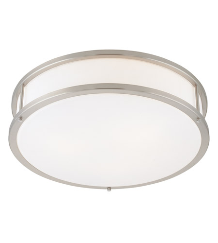 Access 50081LEDD-BS/OPL Conga LED 19 inch Brushed Steel Flush Mount Ceiling Light photo