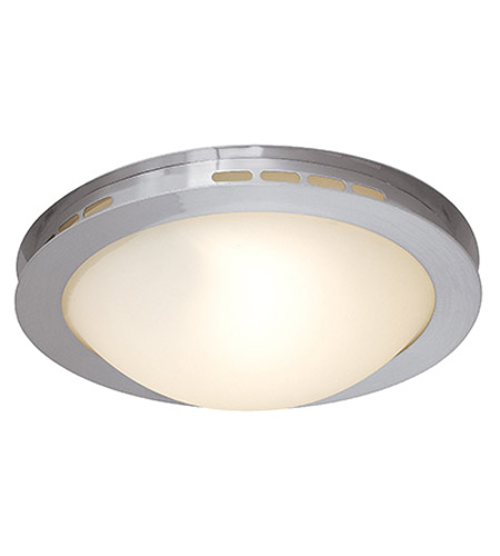Access Lighting Eros 1 Light Flush Mount in Brushed Steel 50082-BS/OPL photo